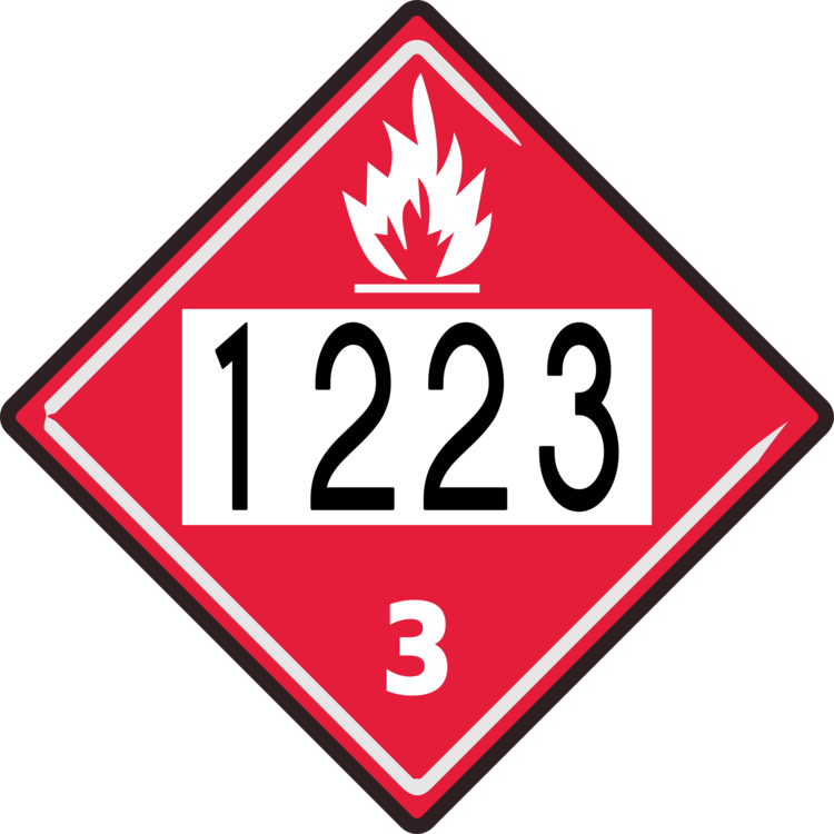 Us Department Of Transportation Un Number Placard Flammable Liquid