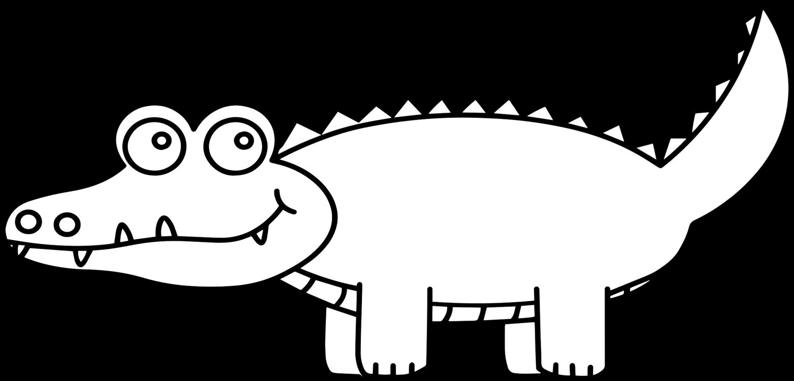 alligators crocodile clip drawing cartoon free commercial clipart