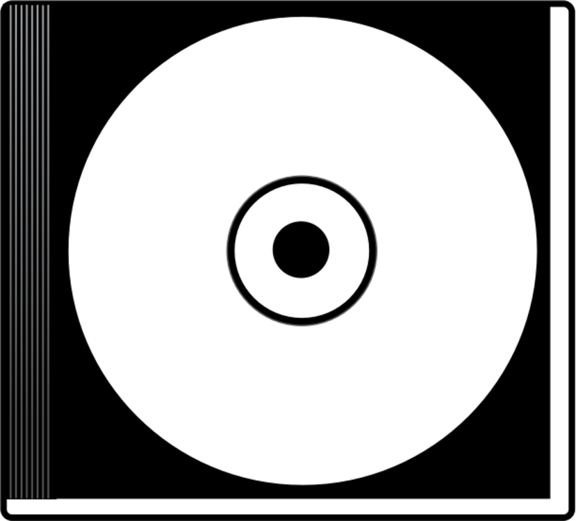 Black and white Compact disc Computer Icons CD-ROM Floppy disk