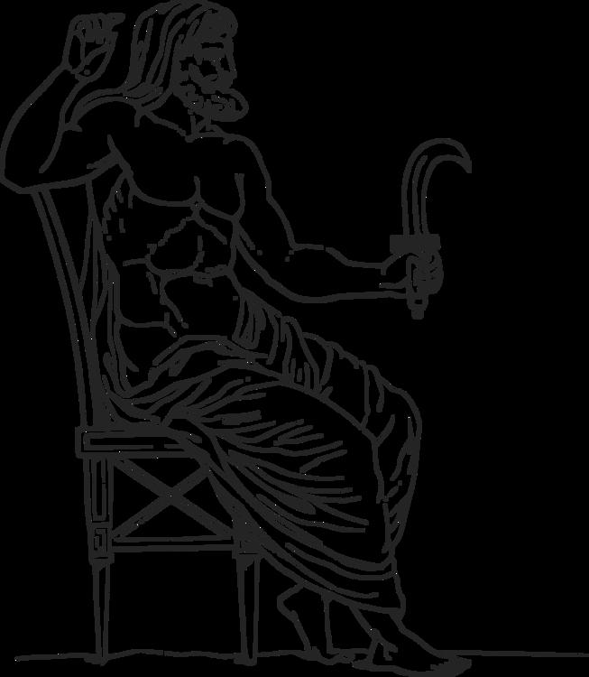 Cronus Zeus Greek Mythology Saturn Free Commercial Clipart