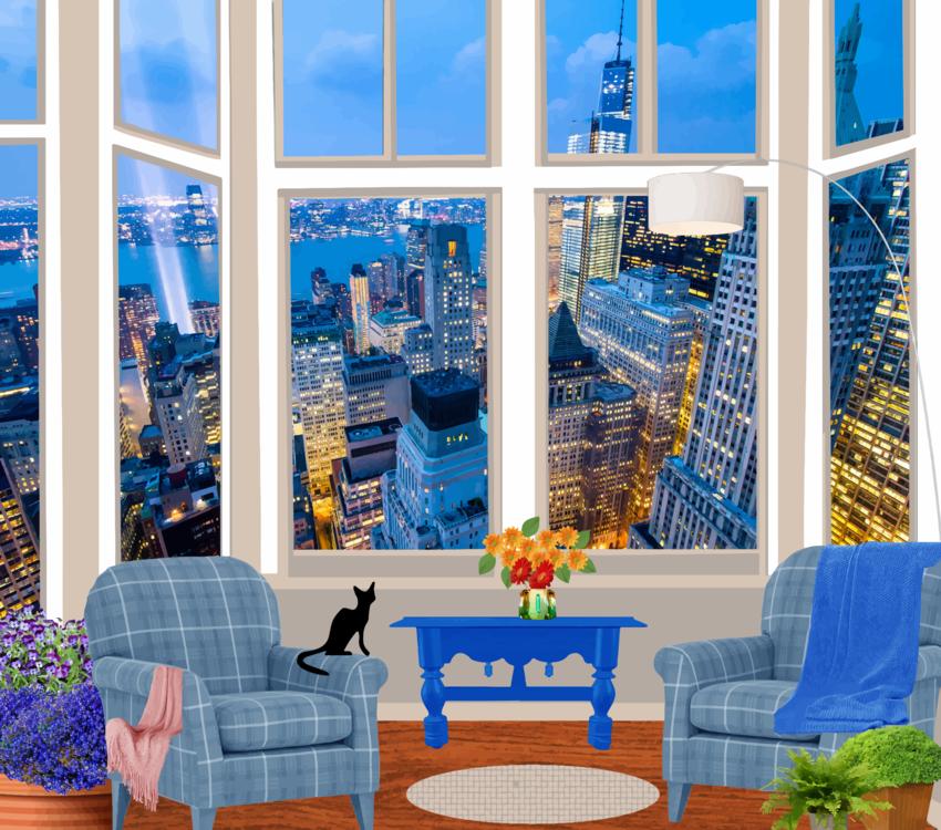 Blue,Apartment,Interior Design