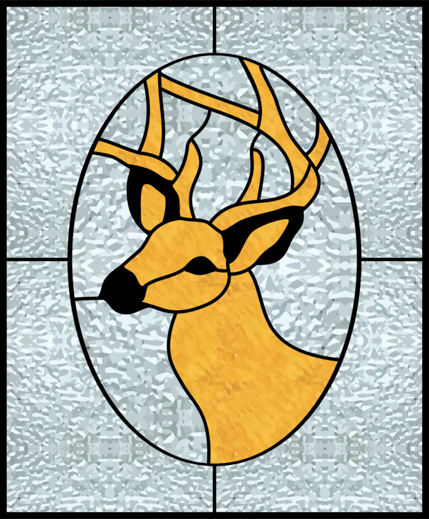 Stained glass Window Deer