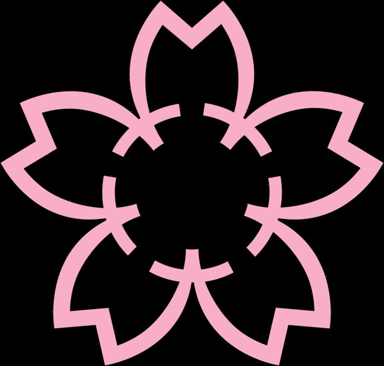 Pink,Flower,Symmetry