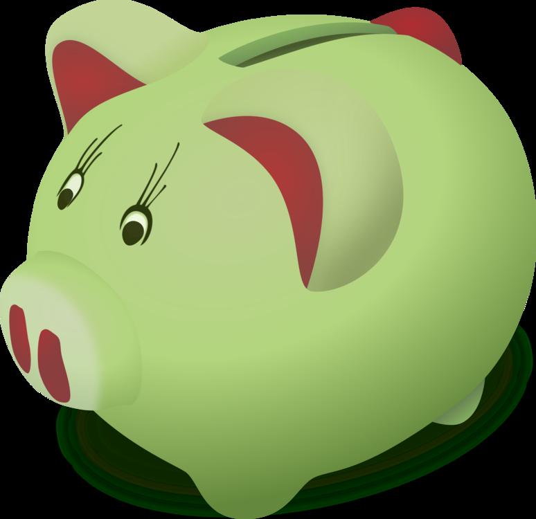 Piggy Bank,Snout,Green