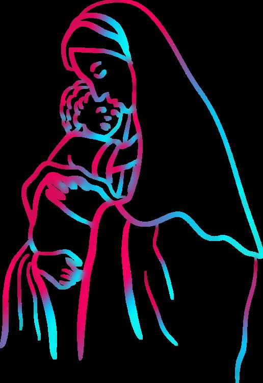 Christ Child Coloring Book Madonna Theotokos