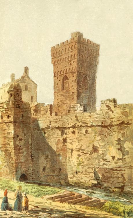 Archaeological Site,Building,Watercolor Paint