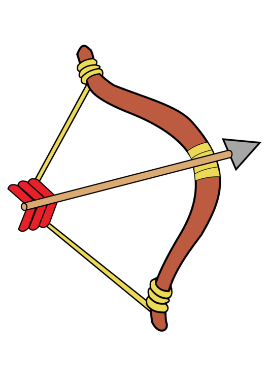Archery Bow And Arrow Drawing Bowhunting Free Commercial Clipart
