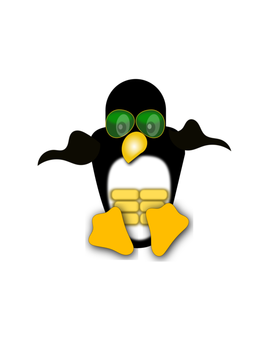 Penguin Puppy Linux Logo Tux CC0 - Flightless Bird,Vertebrate,Yellow