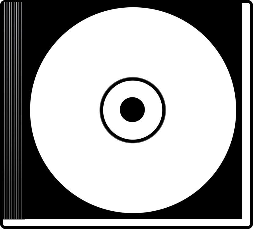 black and white compact disc computer icons cd rom disk storage free rh kisscc0 com CD-Cover Frames CD Cover Template