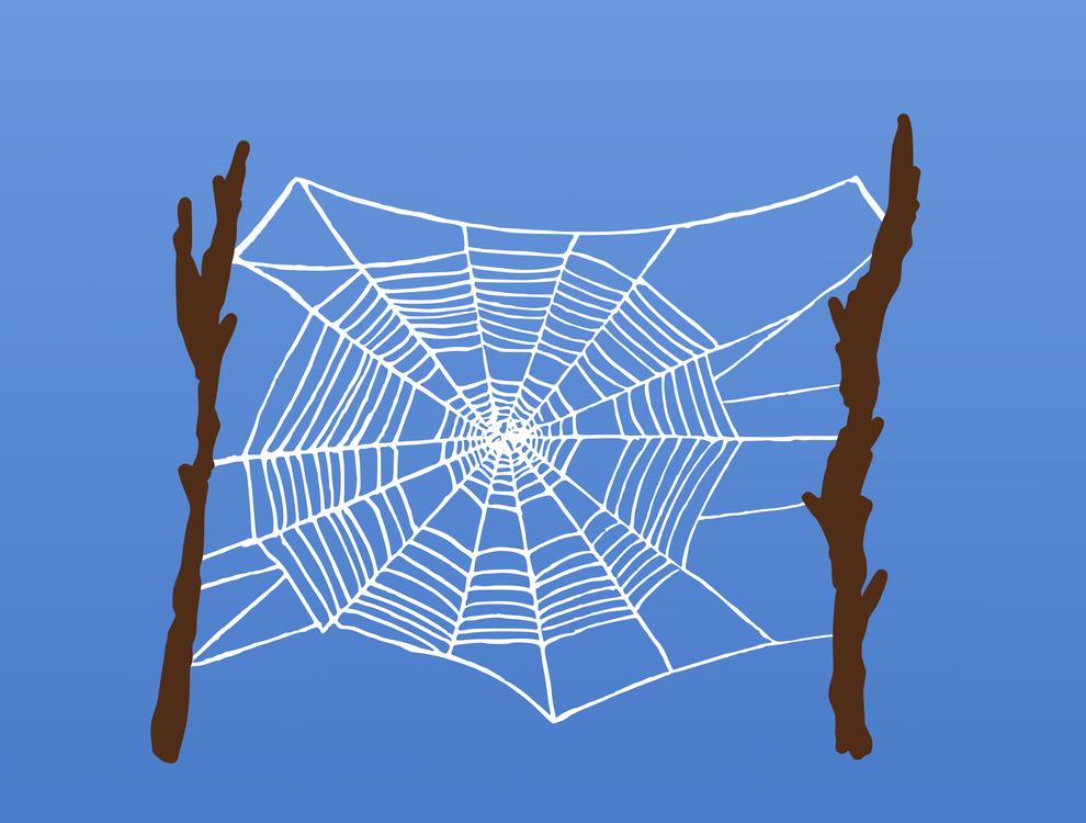Spider web blue. Computer wallpaper symmetry vector