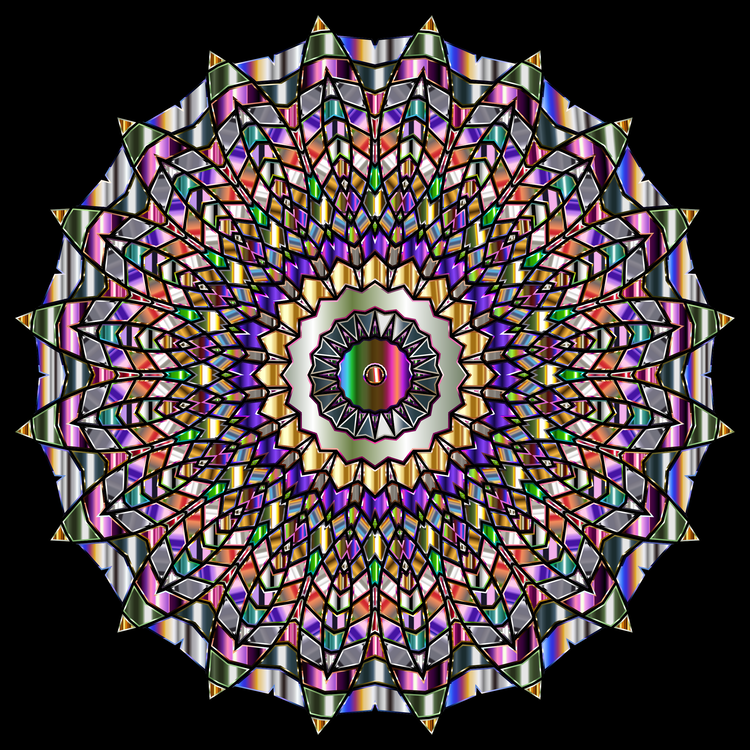 Stained glass Symmetry Kaleidoscope Fractal art