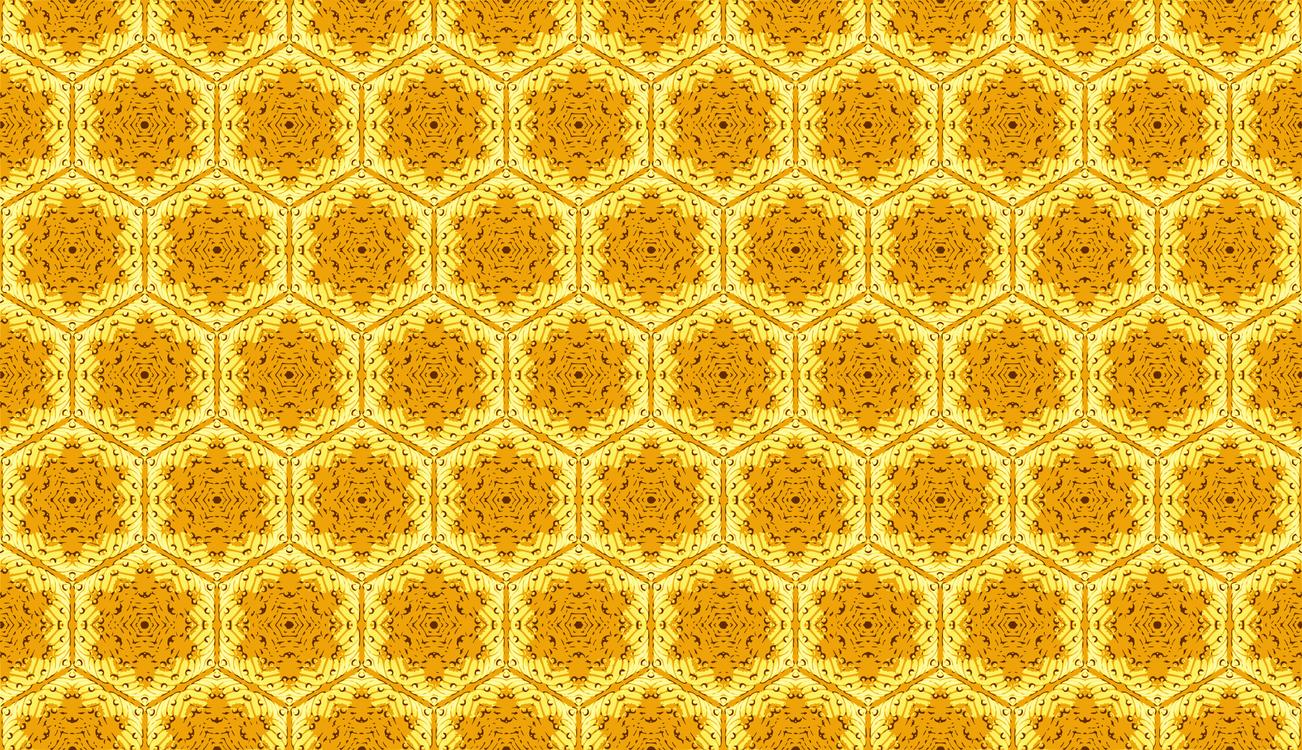Symmetry,Yellow,Honeycomb
