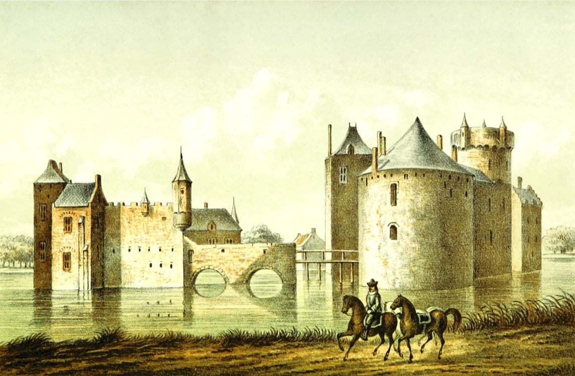 Château,Building,Watercolor Paint