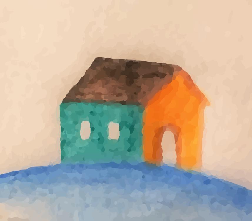 Watercolor Paint,Art,House