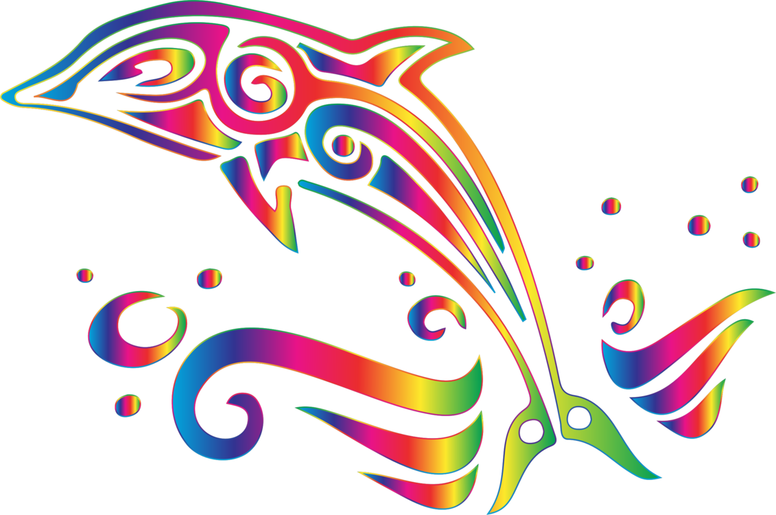 Bottlenose Dolphin Symbol Tattoo Decal Free Commercial Clipart