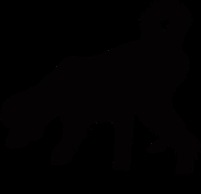 german shepherd old english sheepdog horse silhouette puppy free