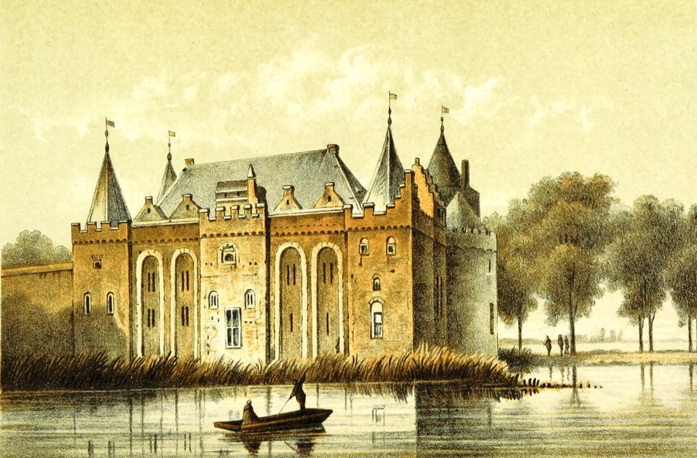 Château,Building,Watercolor Paint