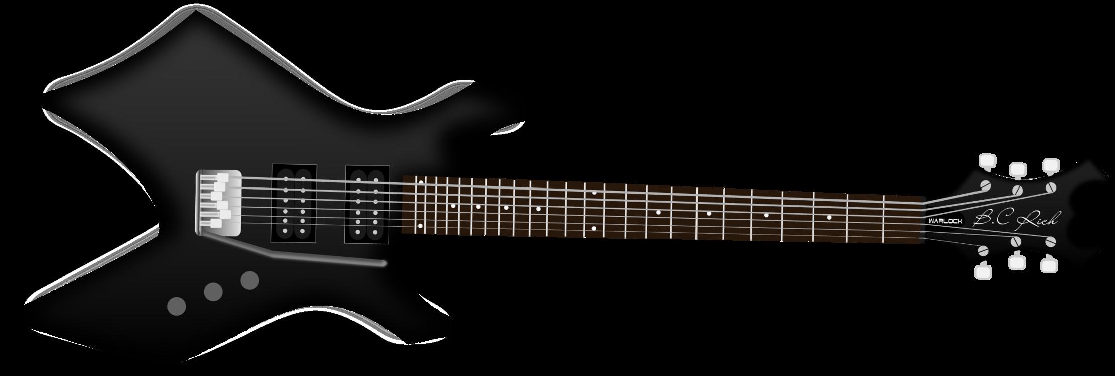 B C Rich Warlock Electric Guitar Bass Guitar Free Commercial