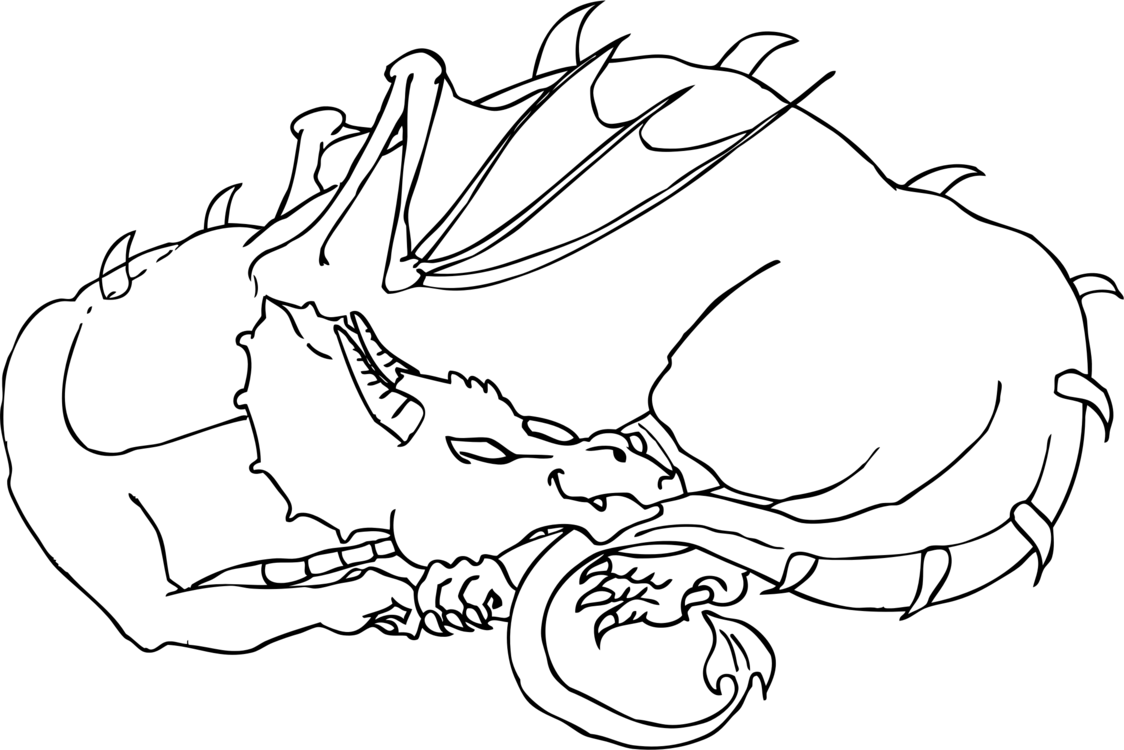 Drawing Dragon Coloring Book Creativity Line Art Free Commercial