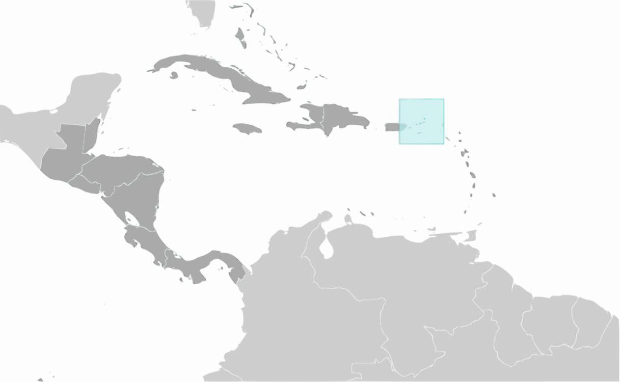 Puerto Rico Central America South America Map World free commercial ...