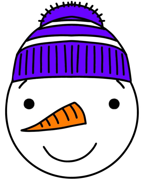 Smiley Snowman Clipart Clipart Vector Design