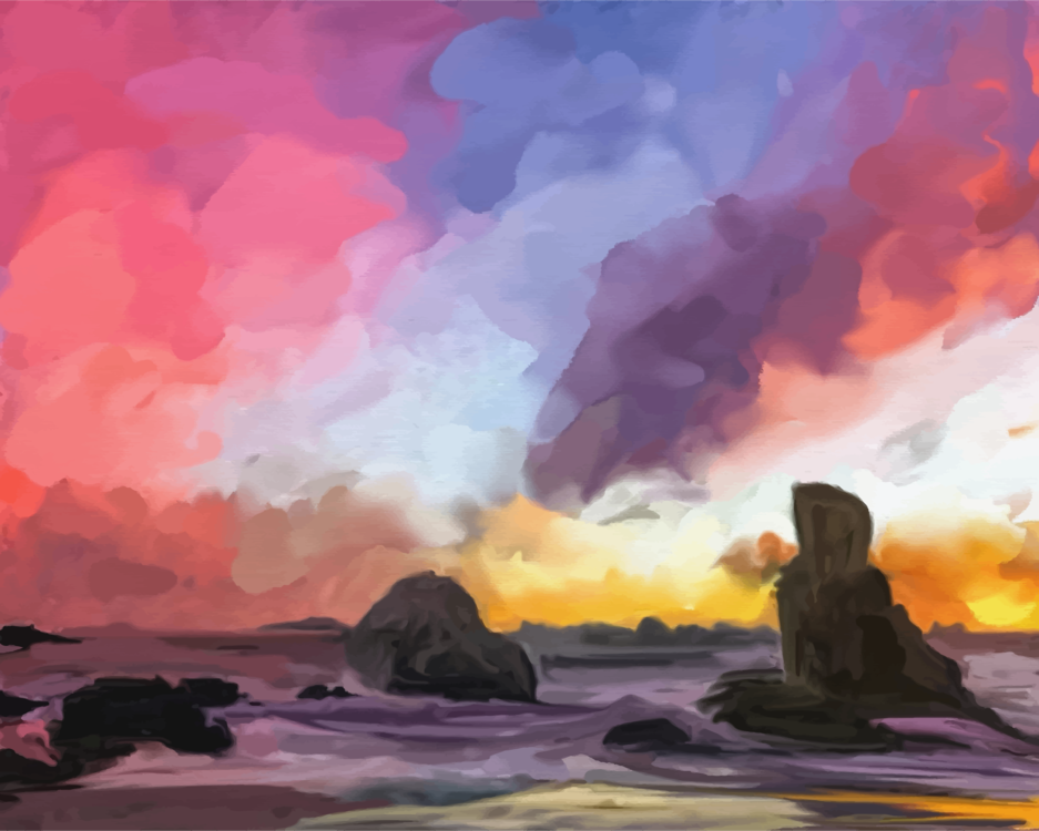 Visual Arts,Watercolor Paint,Meteorological Phenomenon
