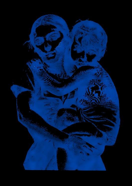 Blue,Shoulder,Hug