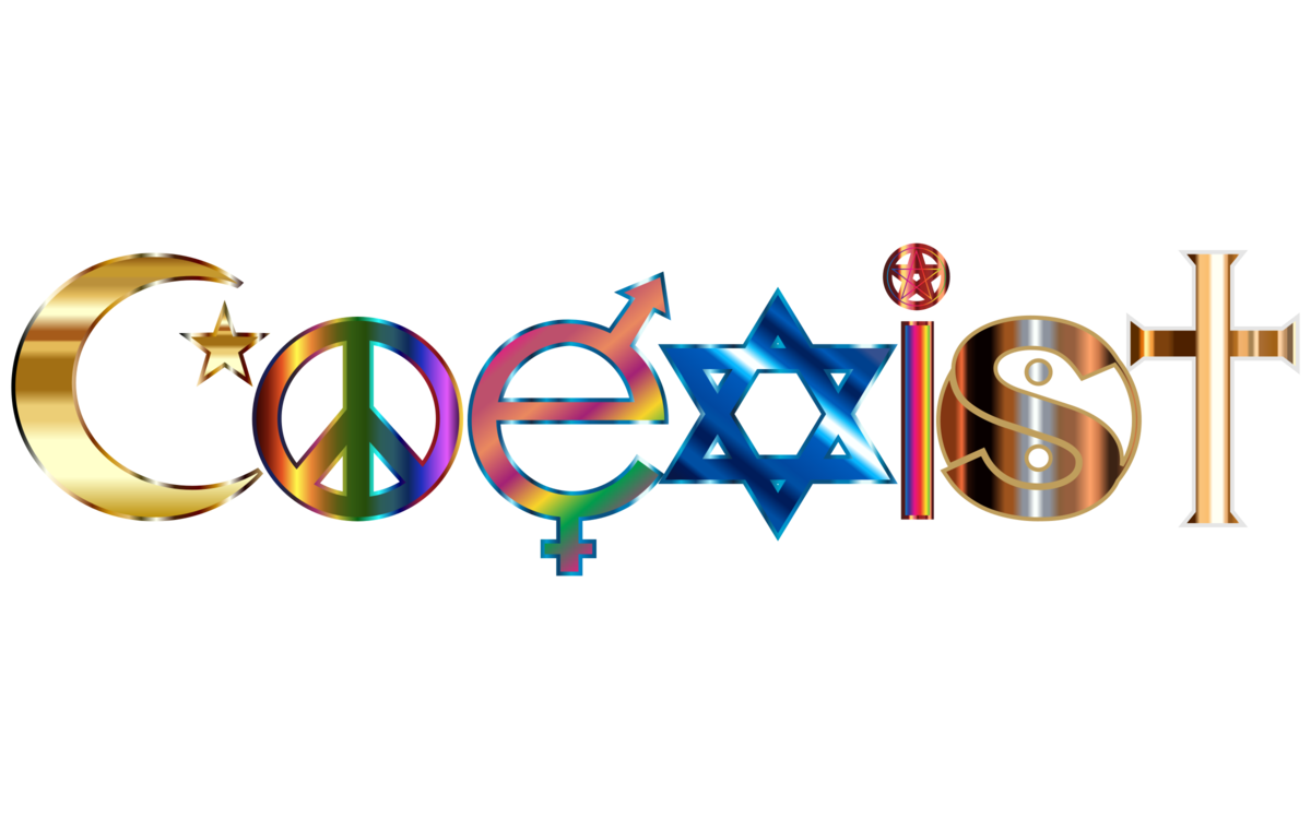 Coexist Decal Symbol Religion Sticker Free Commercial Clipart