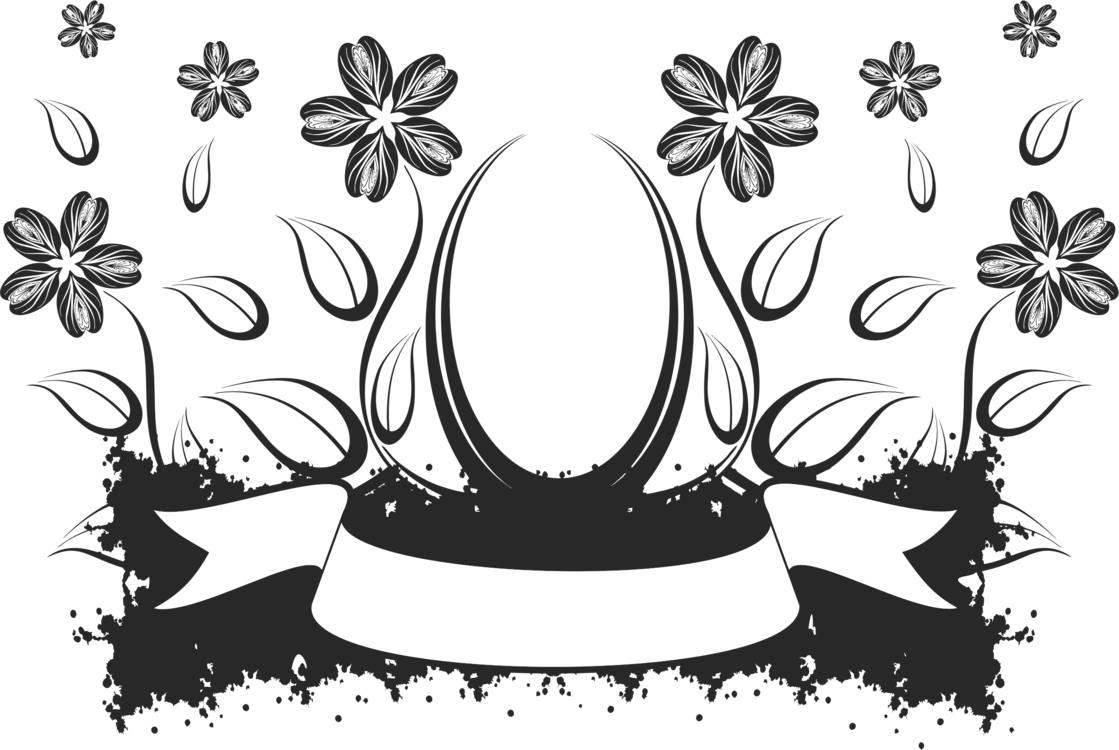 Flower Black And White Drawing Visual Arts Floral Design Free