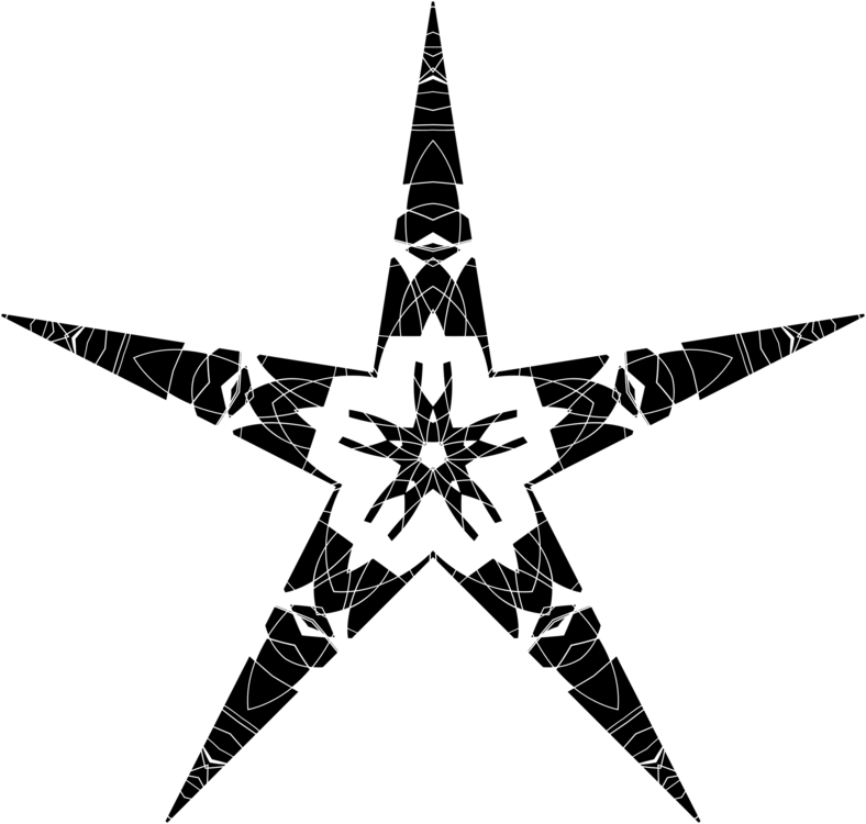 Star,Symmetry,Monochrome Photography