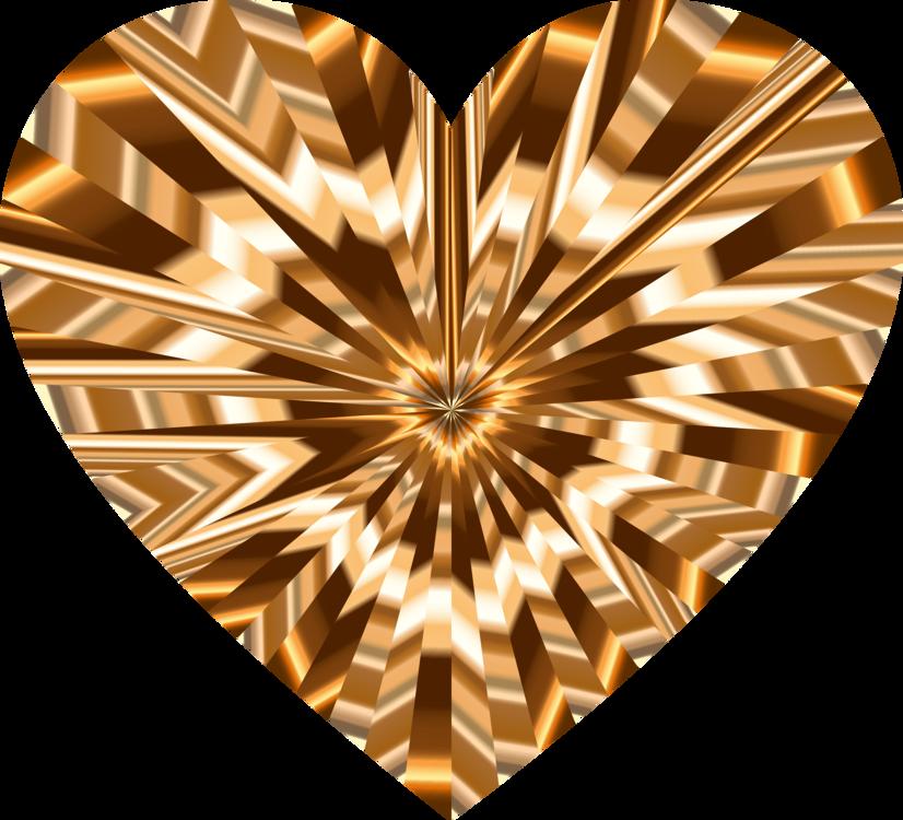 Heart,Symmetry,Gold