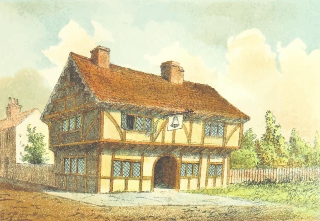 Facade,Farmhouse,Watercolor Paint