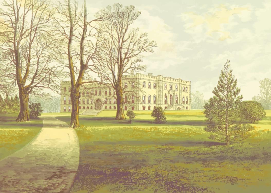 Watercolor Paint,Meadow,Estate