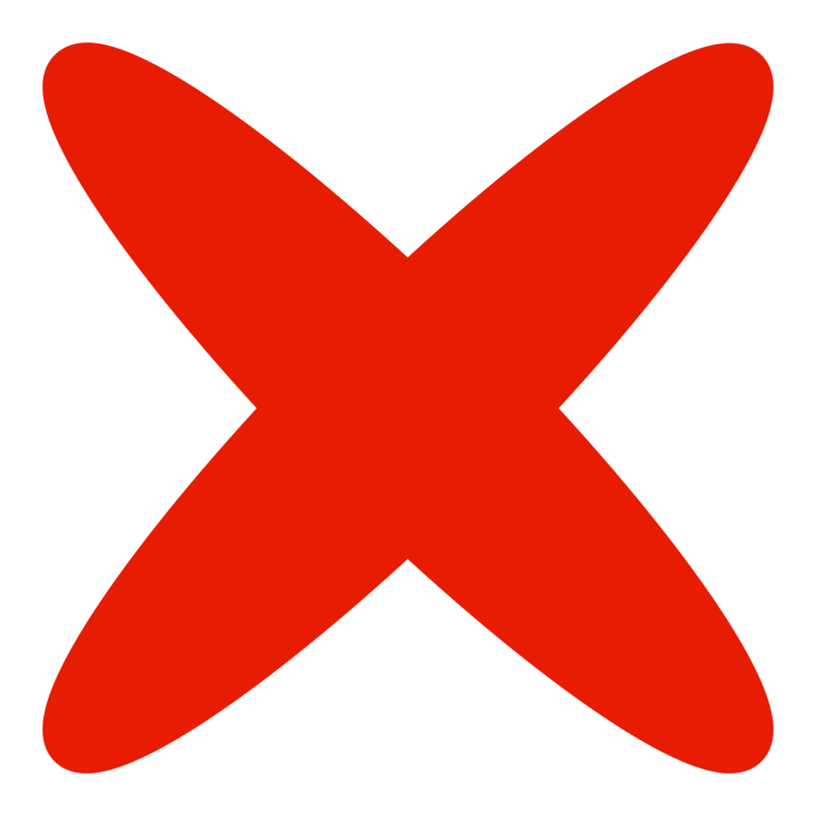 Image result for x mark