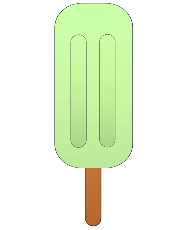Green,Rectangle,Ice Pops