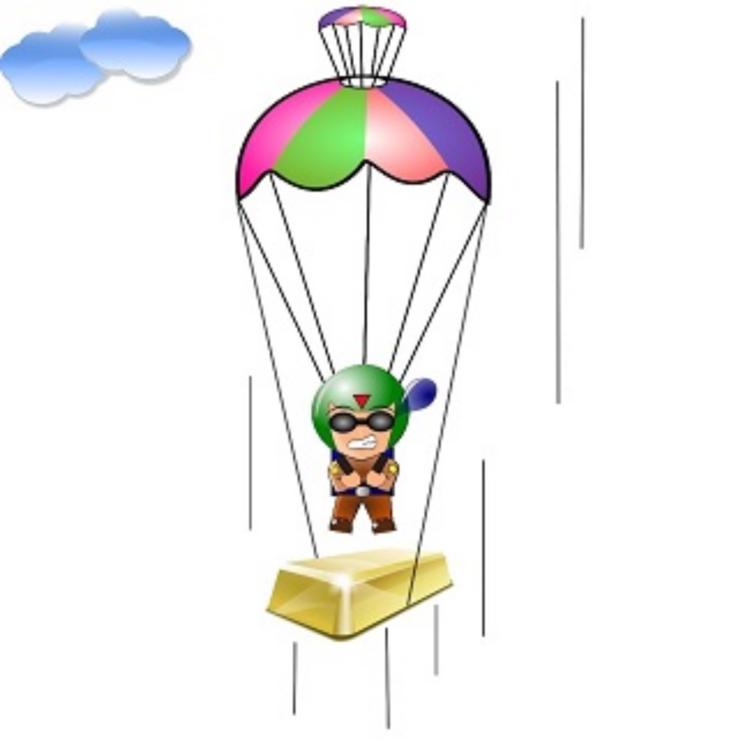 Line,Balloon,Parachuting