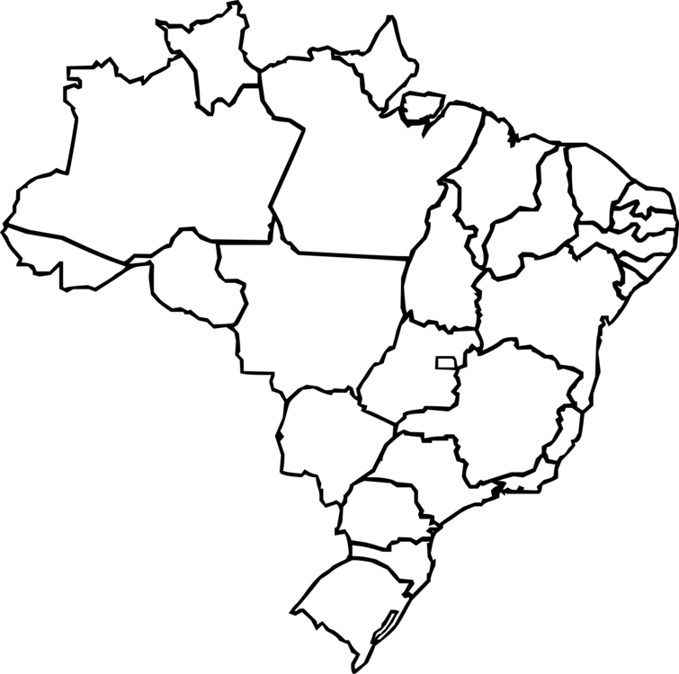 Brazil Blank map City map Topographic map free commercial clipart ...