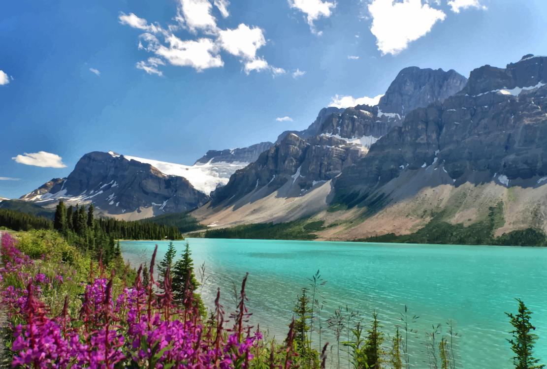 Meadow,Glacial Lake,Massif