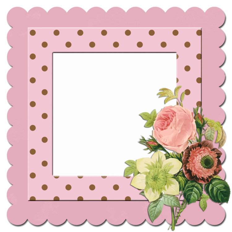 Picture Frames Polka dot free commercial clipart - Picture Frames ...