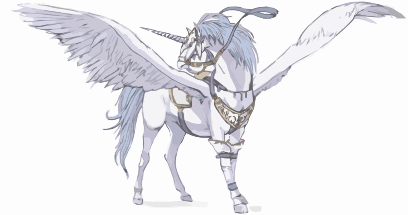 Winged Unicorn Pegasus Horse Mane