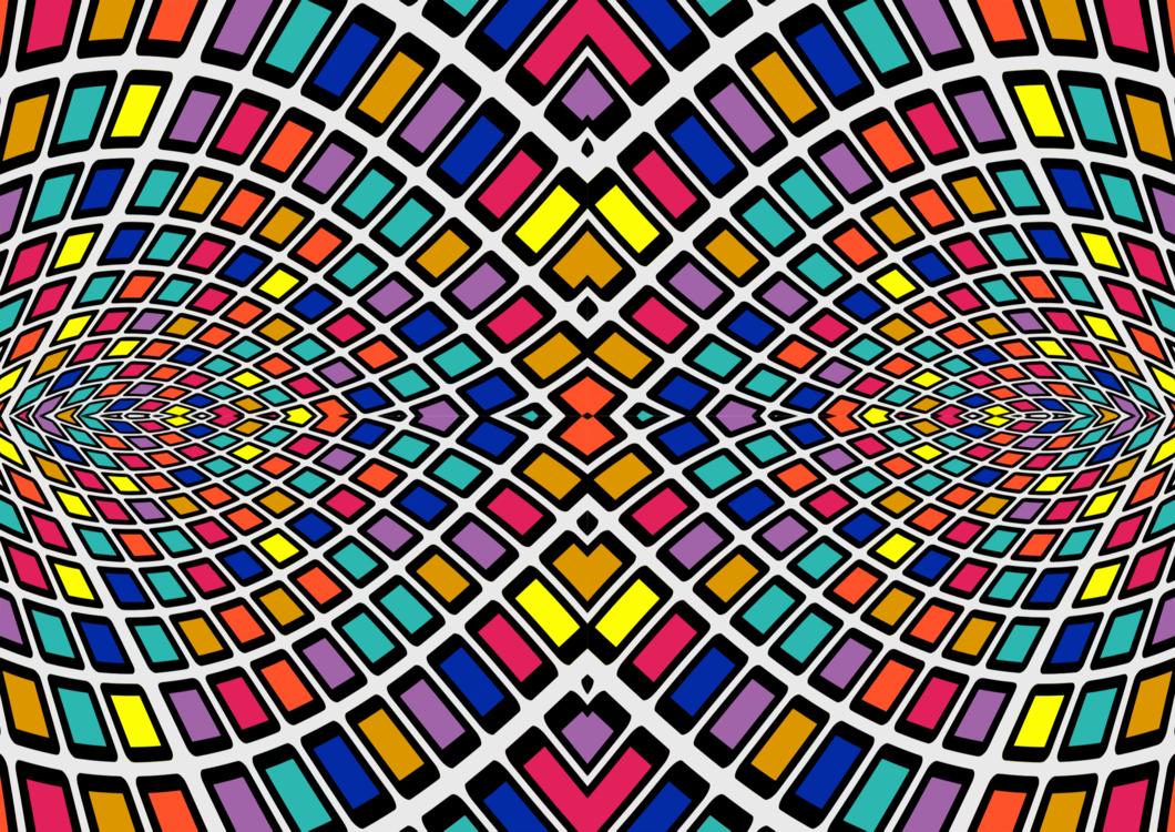 Stained glass Symmetry Light Art Kaleidoscope