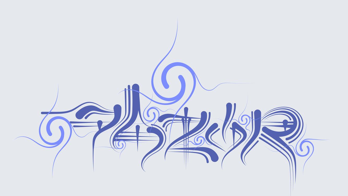 Blue,Calligraphy,Art