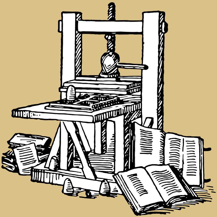 printing press renaissance invention machine cc0 art
