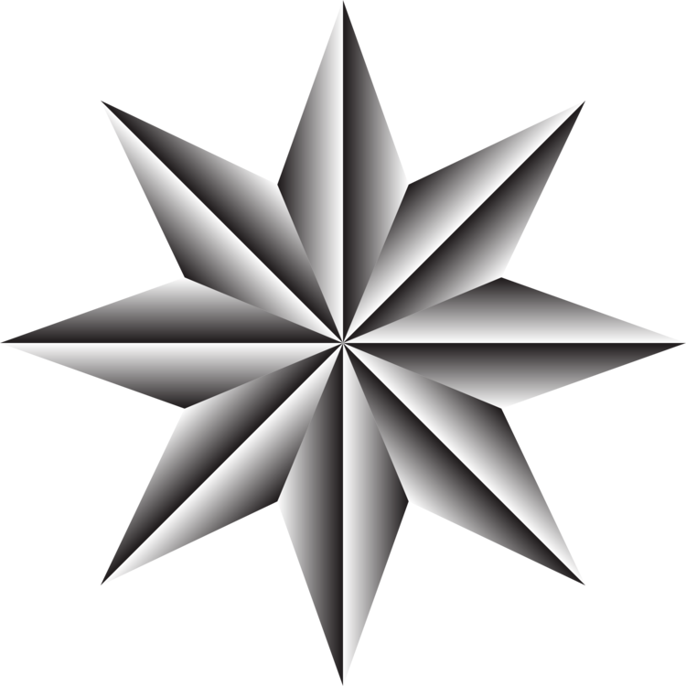 Star,Symmetry,Monochrome Photography