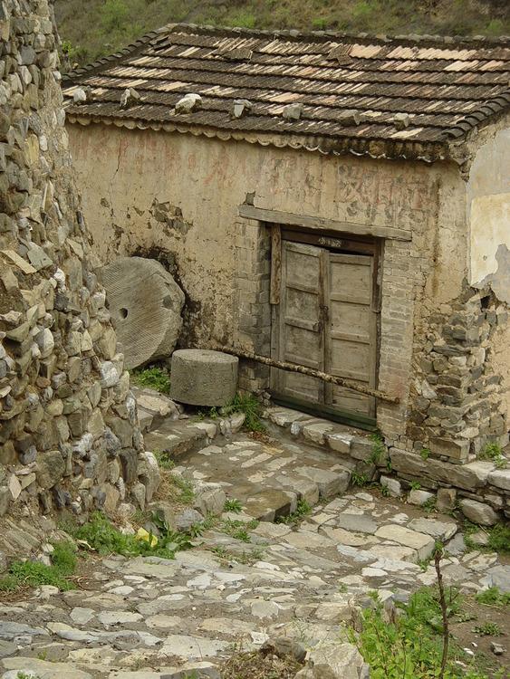 Stone Wall,Ruins,Village