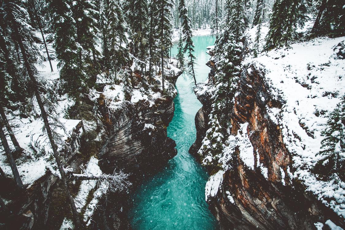 Athabasca Falls Banff Jasper Athabasca River Waterfall