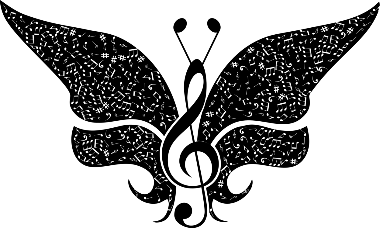 Monarch butterfly drawing insect silhouette