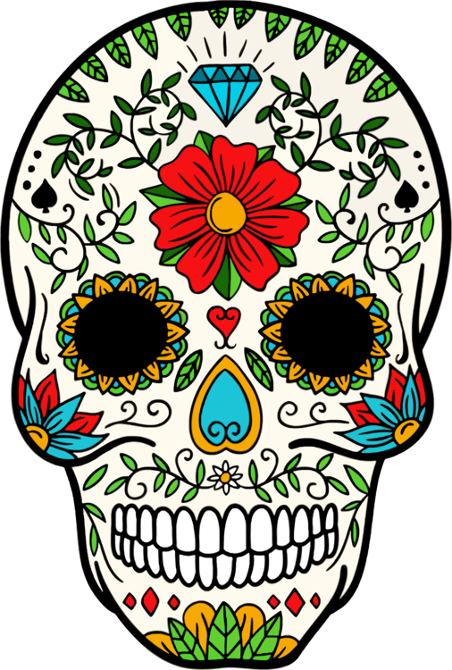 Calavera T-shirt Day of the Dead Skull art
