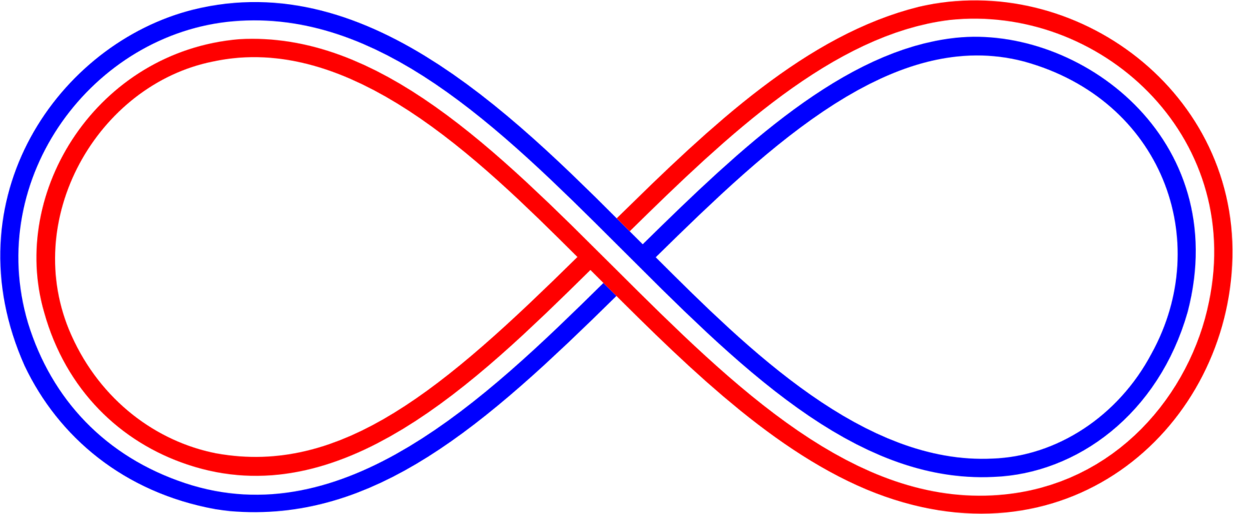 Blue White Red Infinity Symbol Free Commercial Clipart Abstract