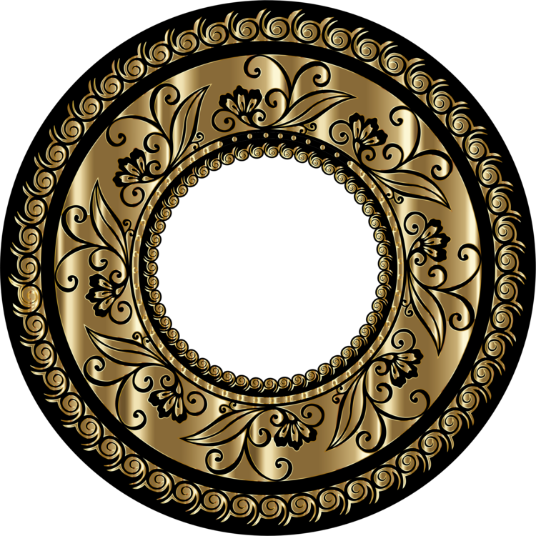 Oval,Circle,Brass